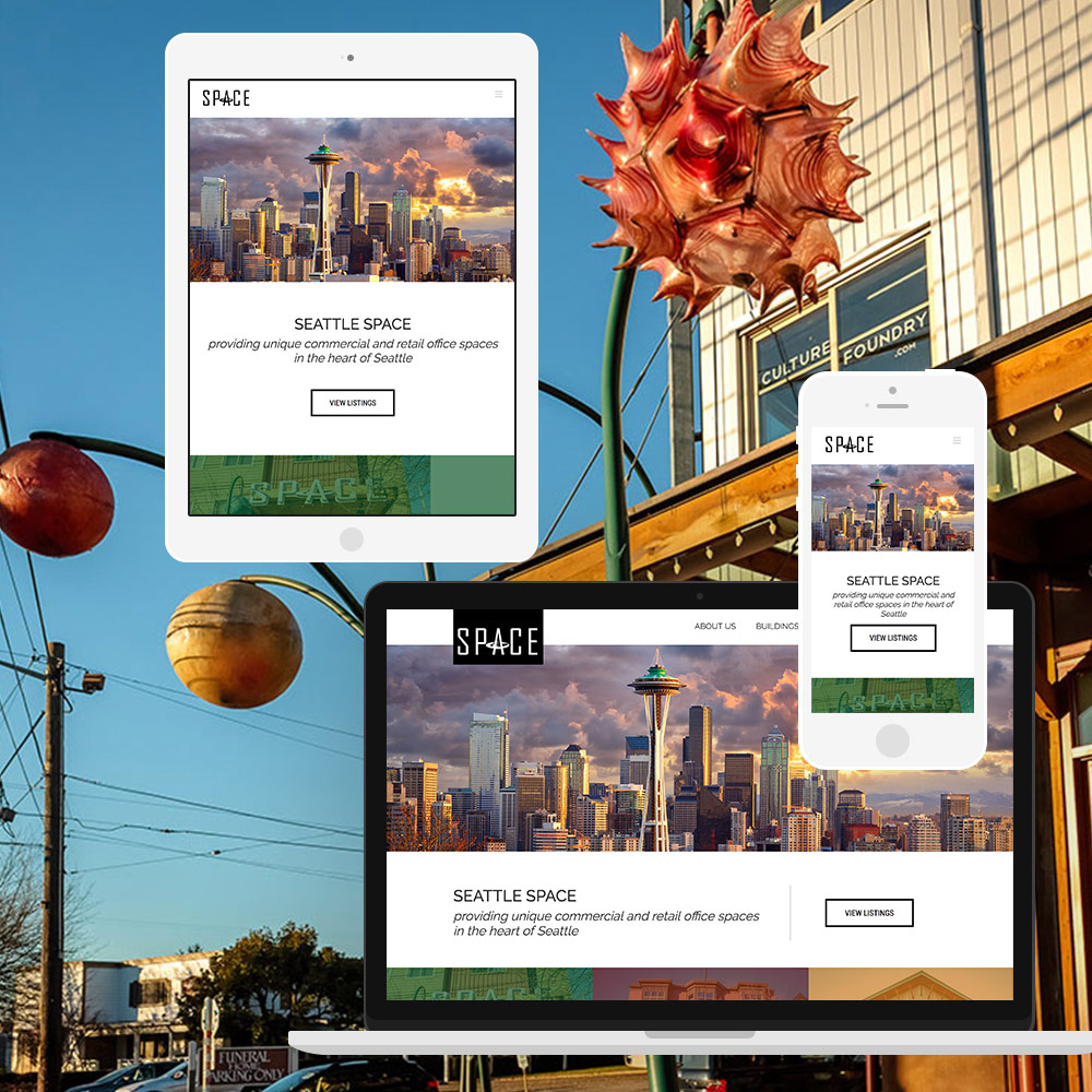 Teaser Of The Seattle Space Website