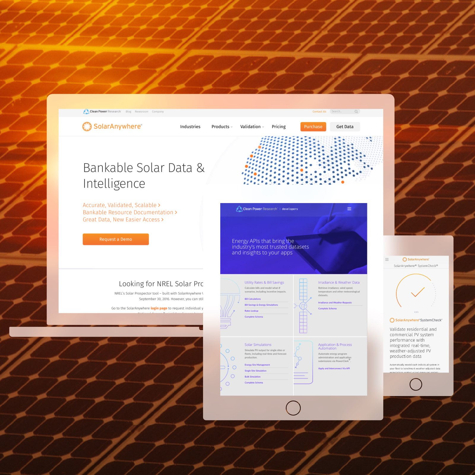 Teaser Of The Clean Power Research And Solar Anywhere Websites