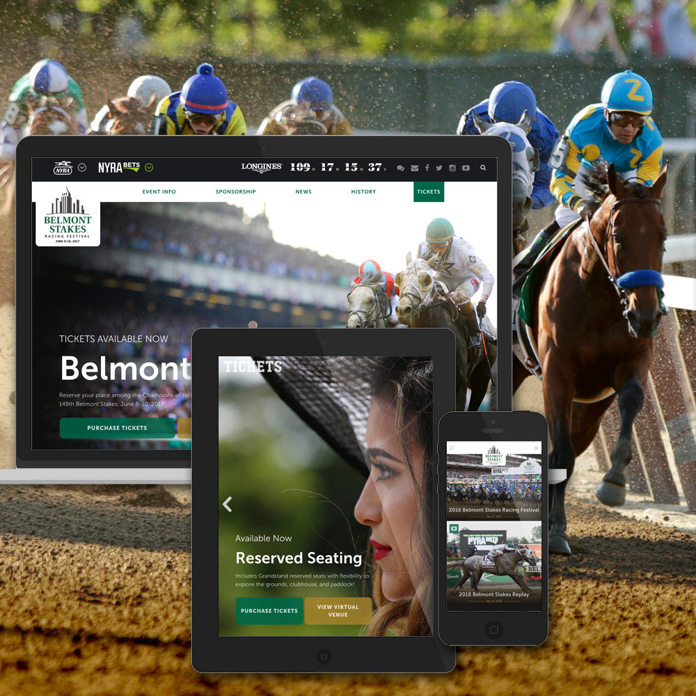 Teaser Of The Belmont Stakes And NYRA Websites